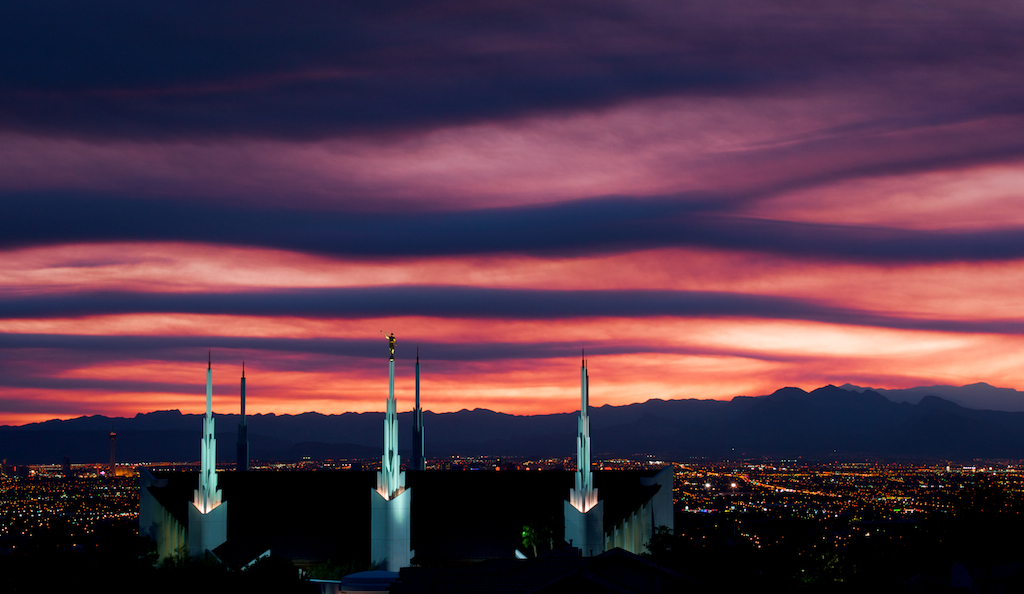 Las Vegas Temple at Sunset